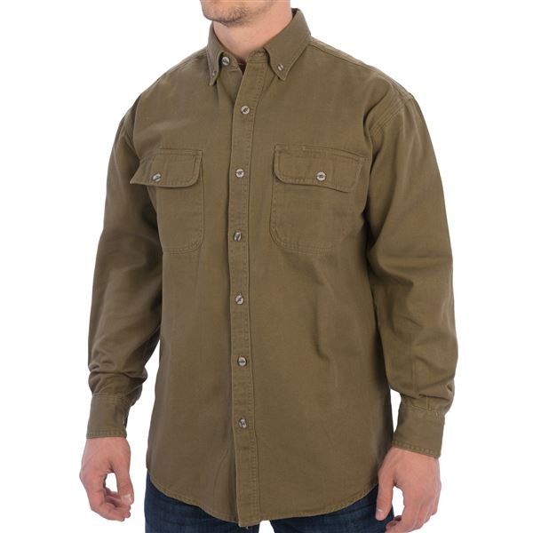 Canyon Guide Trail Shirt - Enzyme Washed Cotton, Long Sleeve (For Men)