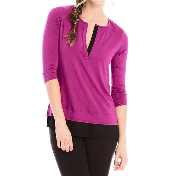 Lole Abby Tunic Shirt - Lenzing Modal®, 3/4 Sleeve (For Women) in Asphalt - Closeouts