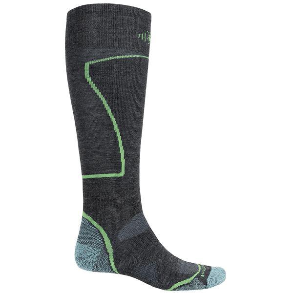 SmartWool PhD Ski Socks - Merino Wool, Over the Calf (For Men and Women) in Black - 2nds