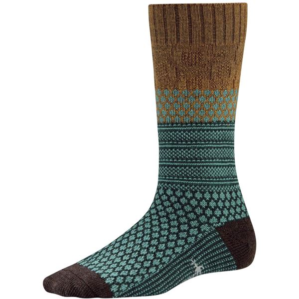 SmartWool Popcorn Cable Socks - Merino Wool, Crew (For Women) in Ash Heather - Closeouts