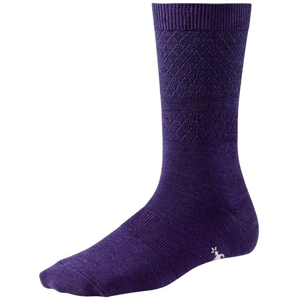 SmartWool Texture Socks - Merino Wool, Crew (For Women) in Poppy - Closeouts