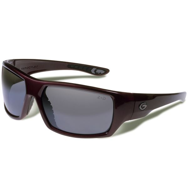 Gargoyles Wrath Sunglasses - Polarized Mirrored Lenses in Matte Black/Smoke/Silver - Closeouts