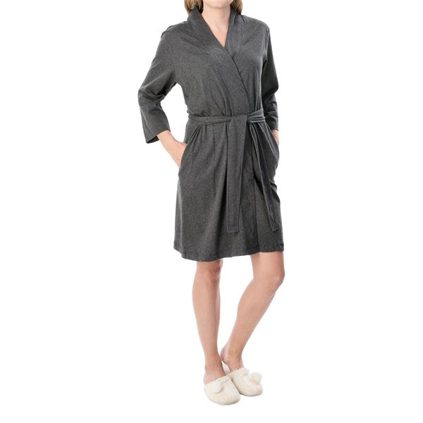 Jockey Replenishment Wrap Robe - 3/4 Sleeve (For Women) in  - Closeouts