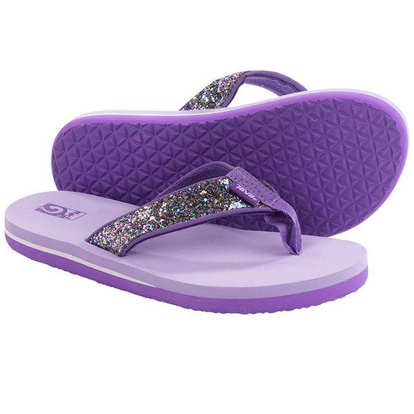 Teva Mush® II Flip-Flops (For Big Kids) in Silver Sparkle - Closeouts