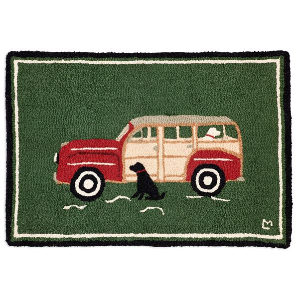 Chandler 4 Corners Hooked Wool Accent Rug - 2x3' in Weather Vane Sloop - Closeouts