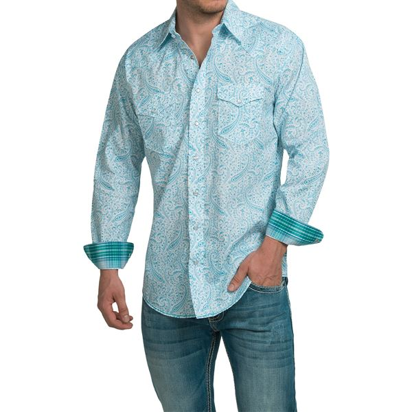 Panhandle Slim Print Shirt - Snap Front, Long Sleeve (For Men) in  - Closeouts