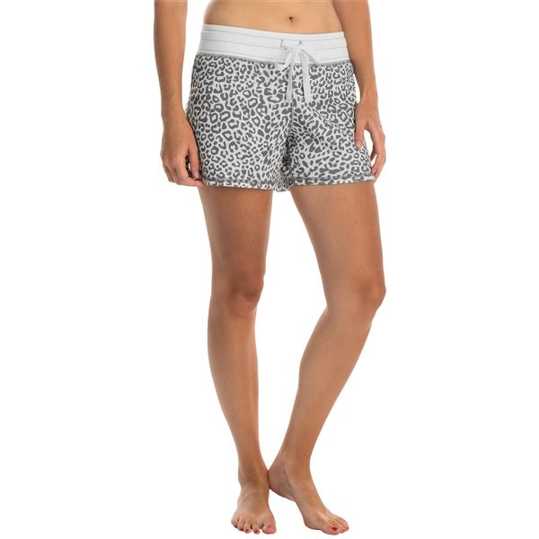 dylan Drawstring Lounge Shorts (For Women) in Chic Cheetah/Vintage Black - Closeouts