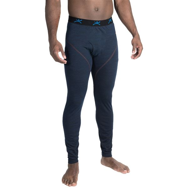Terramar ClimaSense® 4.0 Base Layer Bottoms - UPF 50+ (For Men) in Smoke Heather - Closeouts