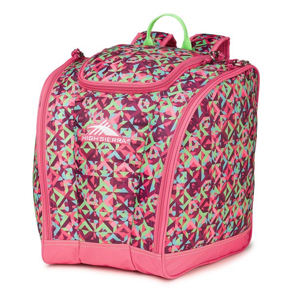 High Sierra Junior Trapezoid Boot Bag (For Little and Big Kids) in Sweet Cakes/Lavender/White - Closeouts