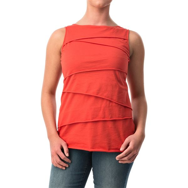 Neon Buddha Ardee Tiered Cotton Tank Top (For Women) in Inza Rust - Closeouts