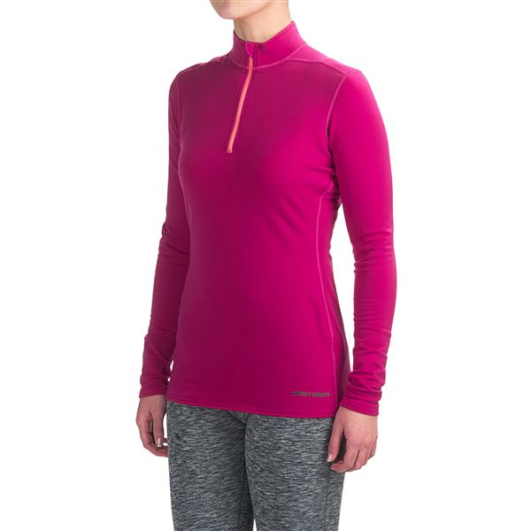 Hot Chillys Micro-Elite XT Base Layer Top - Zip Neck, Long Sleeve (For Women) in Gunmetal - Closeouts