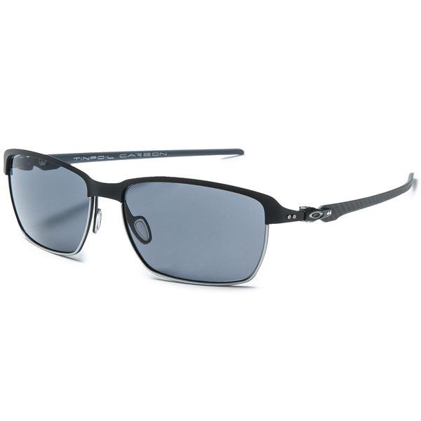Oakley Tinfoil Carbon Sunglasses - Polarized Plutonite® Lenses in Matt Black/Warm Grey - Closeouts