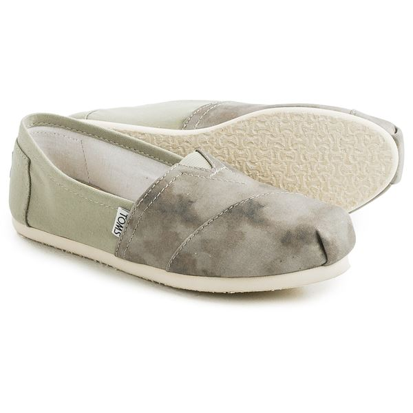 TOMS Washed Canvas Classic Shoes Slip Ons (For Women)