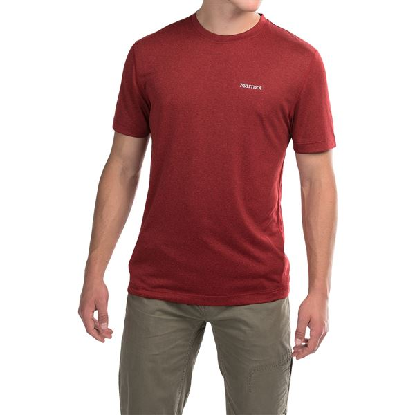 Marmot Conveyor T-Shirt - UPF 30, Short Sleeve (For Men) in Deep Jade Heather - Closeouts