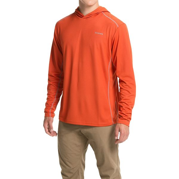 Simms Waypoint Hoodie - UPF 50+ (For Men) in Concrete - Closeouts