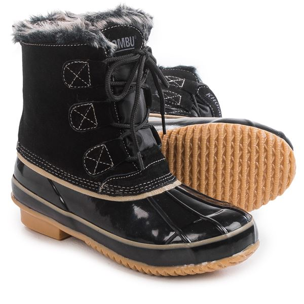Khombu Alyssa Pac Boots - Waterproof, Insulated, Suede (For Women) in Black/Black - Closeouts