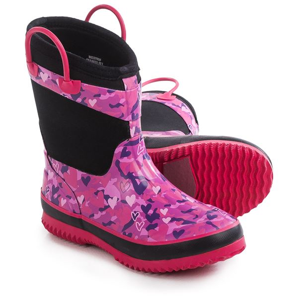 Western Chief Camo Neoprene Rain Boots - Waterproof (For Little and Big Girls) in Pink/Camo - Closeouts