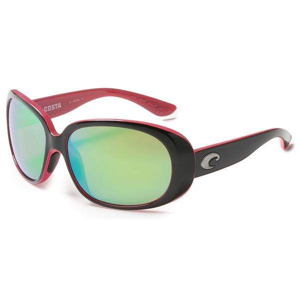 Costa Hammock Sunglasses - Polarized, Mirrored 580P Lenses (For Women) in Coral Raw/Gray - Closeouts