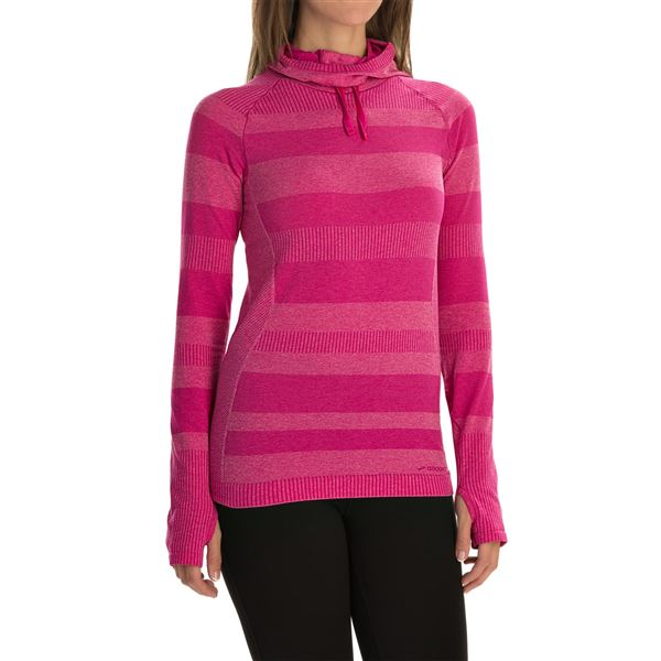 Brooks Streaker Hoodie - UPF 30+ (For Women) in Heather Surf - Closeouts
