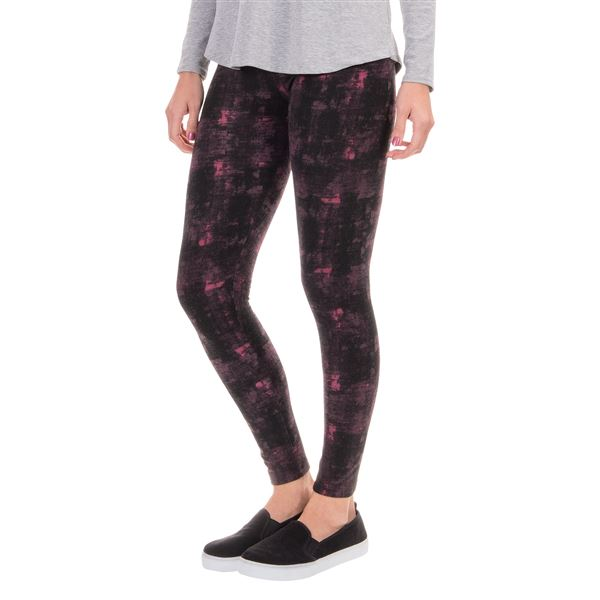 Threads 4 Thought Bleecker Street Fleece Leggings (For Women) in Black/Navy - Closeouts