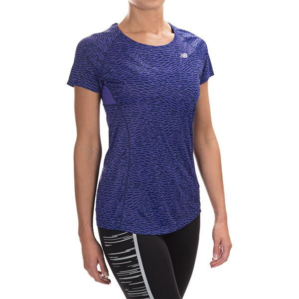 New Balance NB Ice Shirt - Short Sleeve (For Women) in Titan - Closeouts