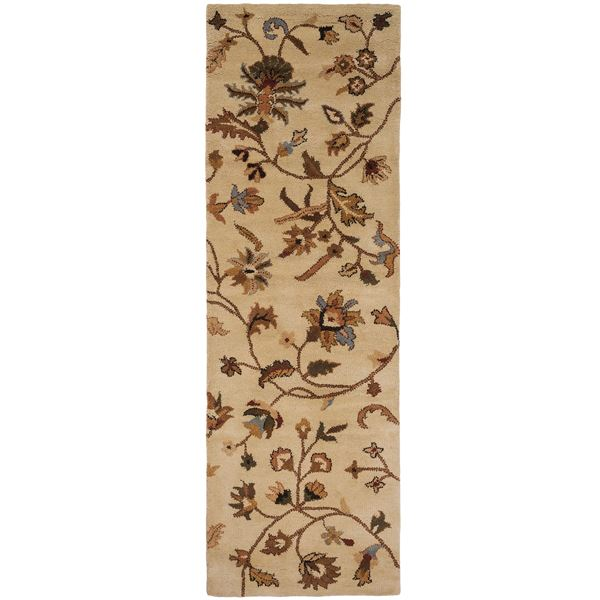 """Rizzy Home Destiny Floor Runner - 2'6""""x8', Hand-Tufted Wool in Ivory - Closeouts"""