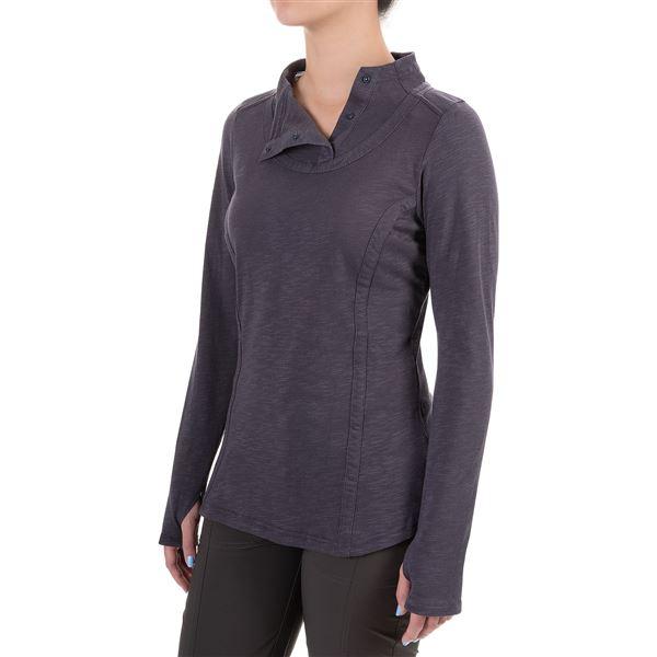 ExOfficio Techspressa Snap Shirt - Long Sleeve (For Women) in Tango - Closeouts