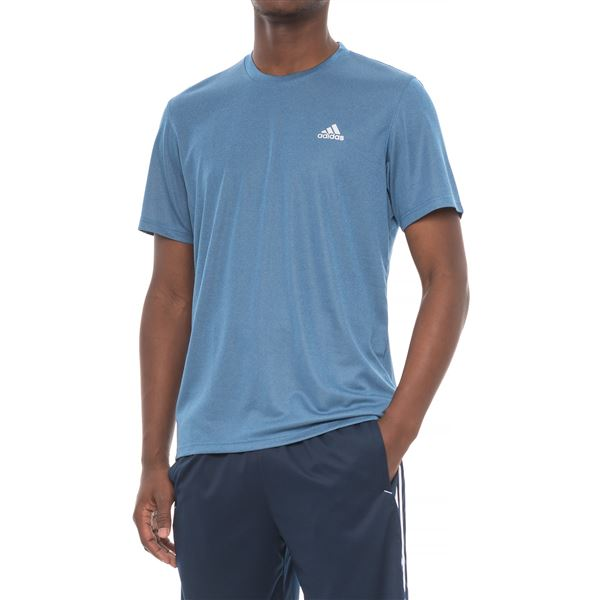adidas Heathered Athletic T-Shirt - Short Sleeve (For Men) in Black Heather - Closeouts