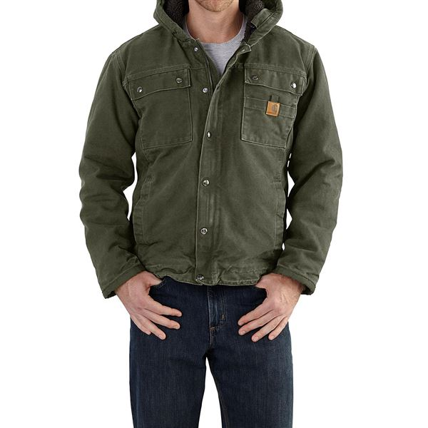 Carhartt Bartlett Sherpa-Lined Jacket (For Men) in Frontier Brown - 2nds