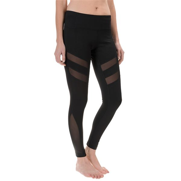 Yogalicious Psyche Leggings (For Women) in Black/Black - Closeouts