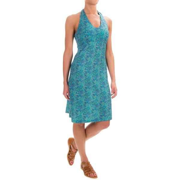 Ibex Kira Printed Dress - Merino Wool, Sleeveless (For Women) in Chevron/Peony - Closeouts