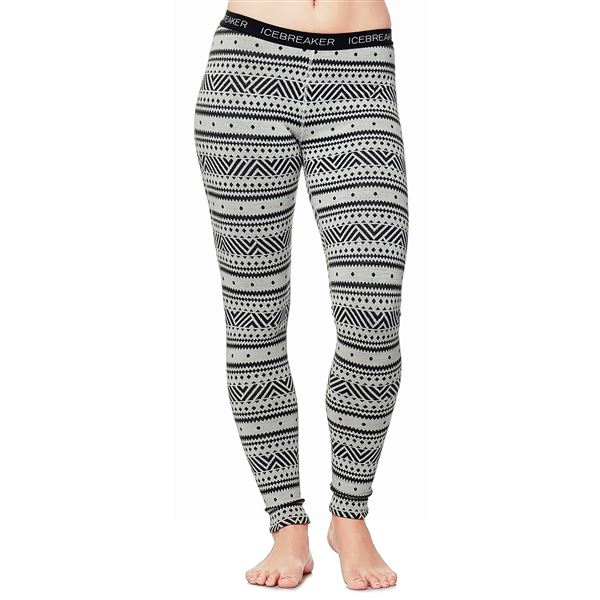 Icebreaker Vertex Icon BodyFit Base Layer Pants - Merino Wool (For Women) in Alpine/Jet Heather/Black - Closeouts