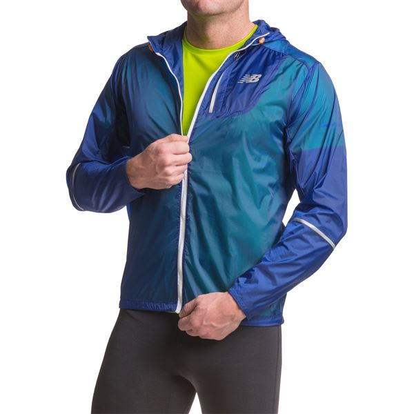 New Balance Lite Packable Jacket (For Men) in Electric Blue - Closeouts