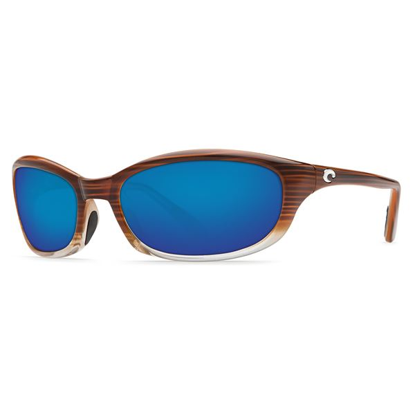 Costa Harpoon Sunglasses - Polarized 400G Glass Lenses in Wood Fade/Green Mirror - Closeouts