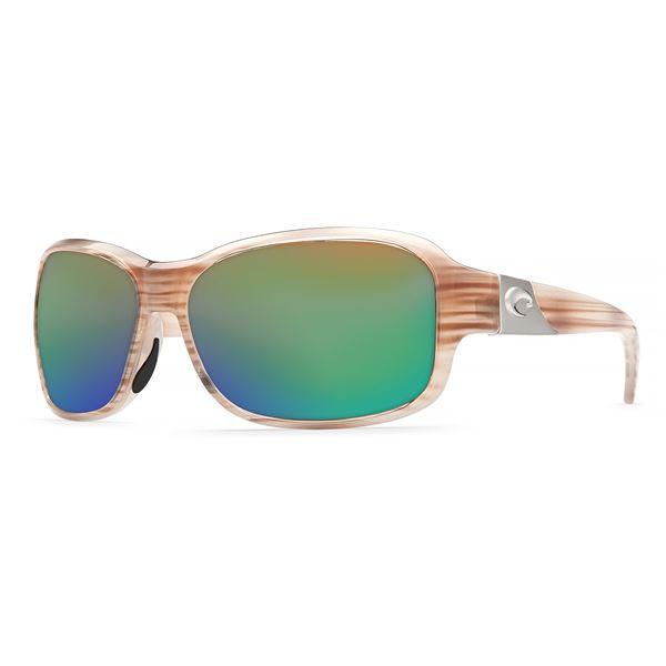 Costa Inlet Sunglasses - Polarized 580G Glass Mirror Lenses (For Women) in Morena/Silver Mirror - Closeouts