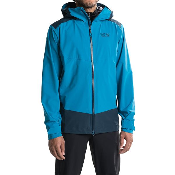 Mountain Hardwear Torzonic Hooded Jacket - Waterproof (For Men) in Black - Closeouts