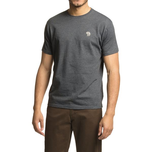 Mountain Hardwear Graphic MHW Logo T-Shirt - Short Sleeve (For Men) in Heather Cote Du Rhone - Closeouts