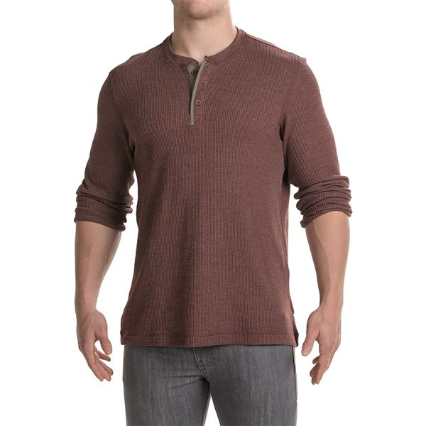 Mountain Hardwear Fallon Thermal Henley Shirt - Long Sleeve (For Men) in Black - Closeouts