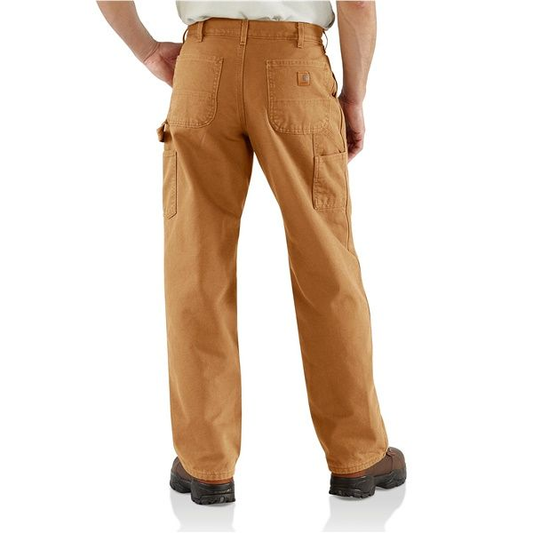 7b6ed5c1 Carhartt B111 Washed Duck Dungarees - Flannel Lined, Factory Seconds (For  Men)