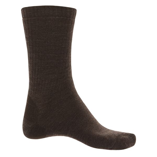 SmartWool Heathered Socks - Merino Wool, Crew (For Men) in Black - 2nds