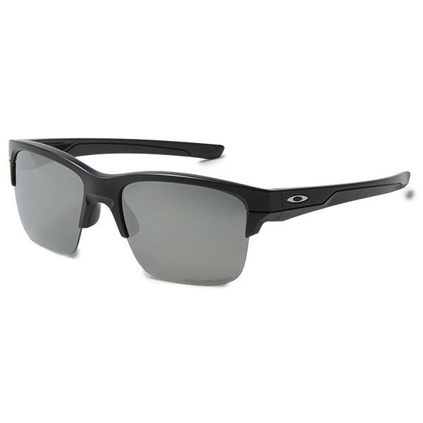 Oakley Thinlink Iridium® Sunglasses - Plutonite®  Lenses in Matte Black/Jade Iridium - Overstock