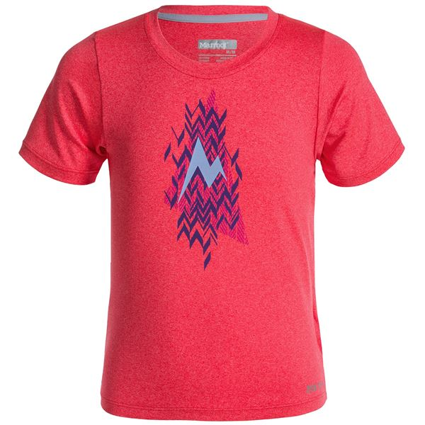 Marmot Post Time T-Shirt - UPF 30, Short Sleeve (For Girls) in Rosebud Heather - Closeouts