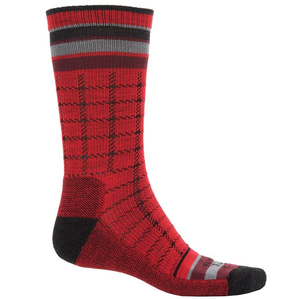 Farm to Feet Portland Socks - Merino Wool, Crew (For Men) in Parachute Purple/Charcoal - Closeouts