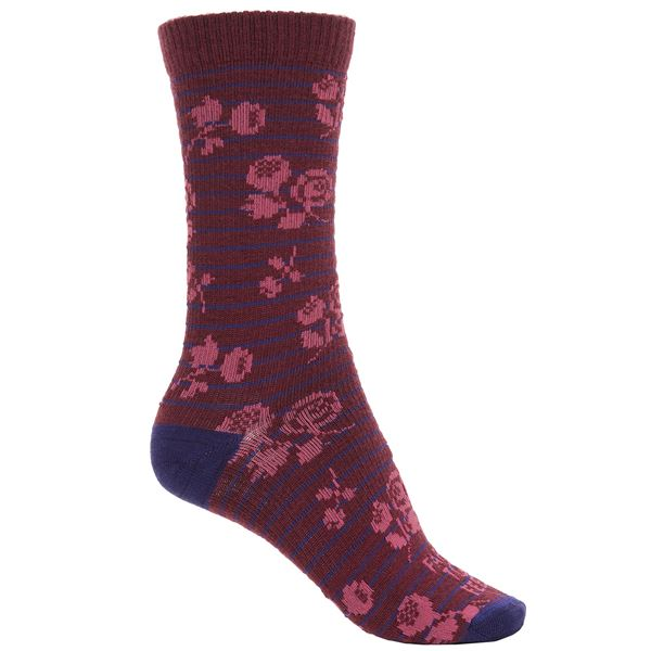 Farm to Feet Catawba Socks - Merino Wool, Crew (For Women) in Charcoal/Atlantic Deep - Closeouts