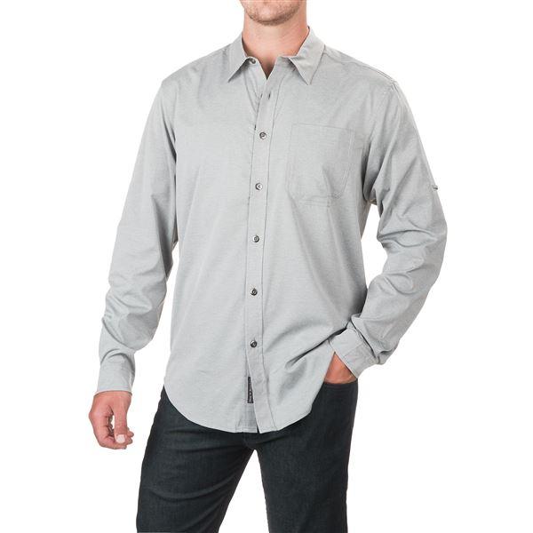 ExOfficio Toreno Shirt - UPF 30, Long Sleeve (For Men) in Navy Heather - Closeouts