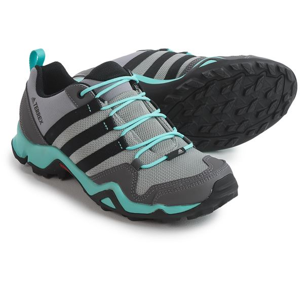 adidas Terrex AX2R Hiking Shoes (For Women) in Ch Solid Grey/Dgh Solid Grey/Clear Aqua - Closeouts