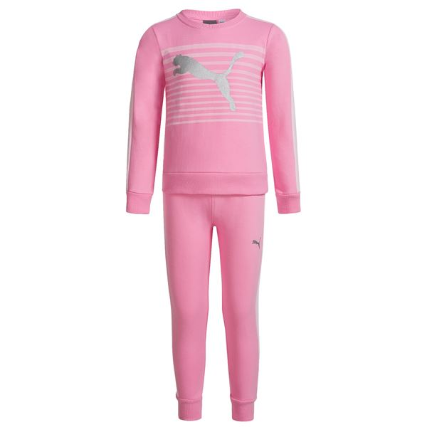 Puma Midweight Sweatshirt and Sweatpants Set - 2-Piece (For Little Girls) in Pink - Closeouts