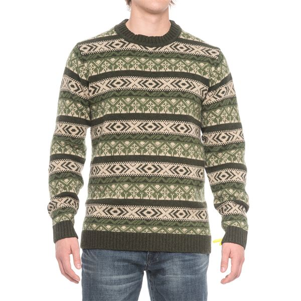Fjallraven Ovik Folk Sweater - Wool (For Men) in Storm - Closeouts