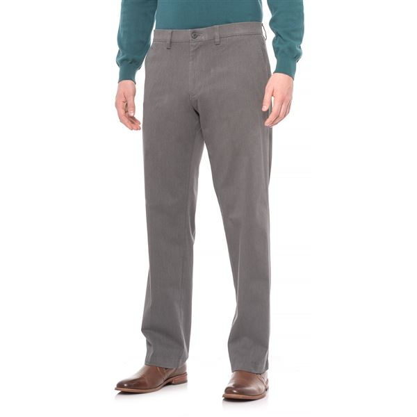 Straight-Leg Twill Pants (For Men) in Black - Closeouts
