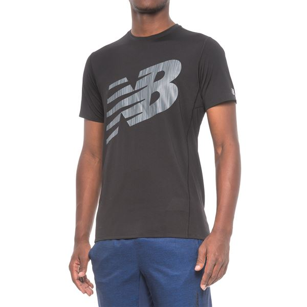 New Balance Athletic Graphic T-Shirt - Short Sleeve (For Men) in Electric Blue - Closeouts